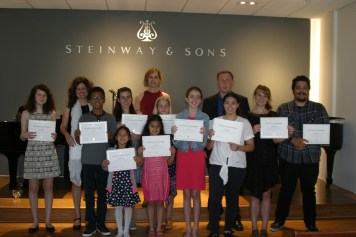 Steinway & Sons Certificates for recital performances.