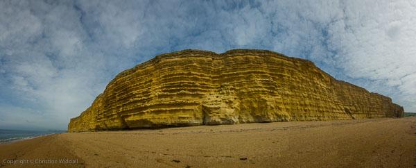 Panorama of Burton Cliffs