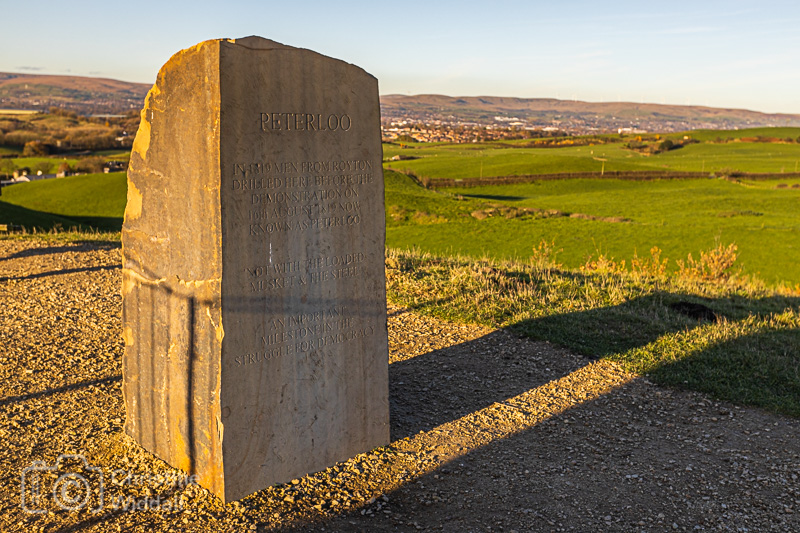 The Peterloo monument at Tandle Hill Royton.
