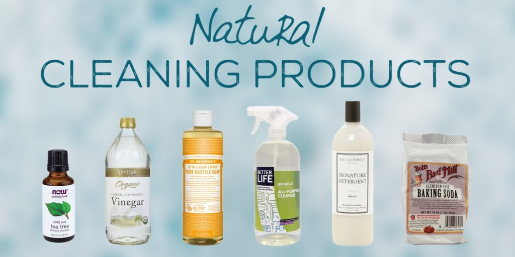 Natural cleaning products.