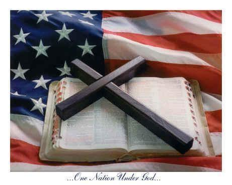 us flag and bible