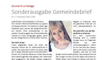 Sonderausgabe Gemeindebrief Nr.2 – Karwoche/ Ostern 2020