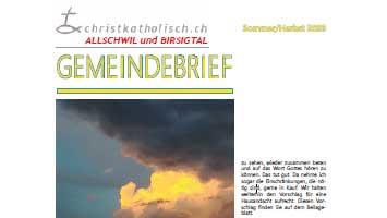 Gemeindebrief der christkatholischen Kirchgemeinden Allschwil und Birsigtal - Sommer/Herbst 2020