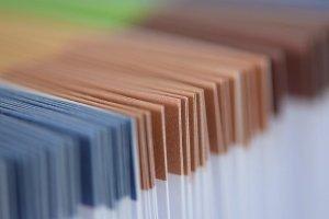 Farbig gekennzeichnete Dokumente