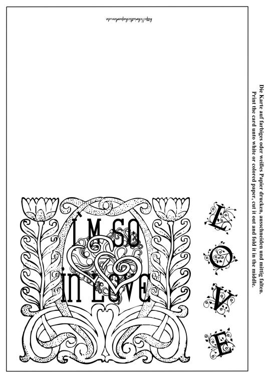 Liebe Karten zum Ausdrucken  Cards About Love  Christliche Perlen