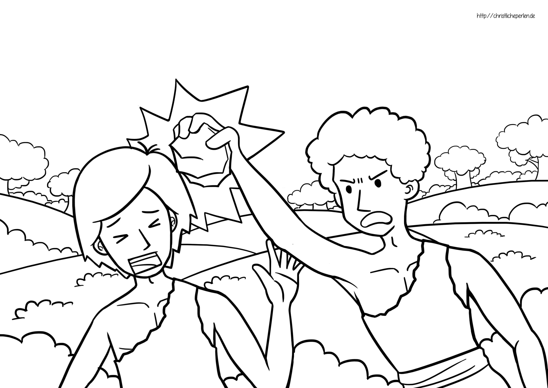 Kain Und Abel Ausmalen Cain And Abel Coloring Pages