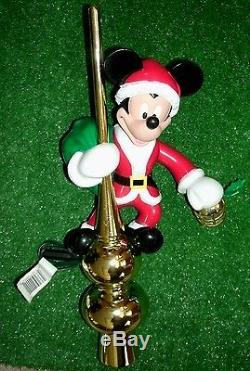 Wdw Mr Christmas Mickey Mouse Lighted Animated Tree Topper