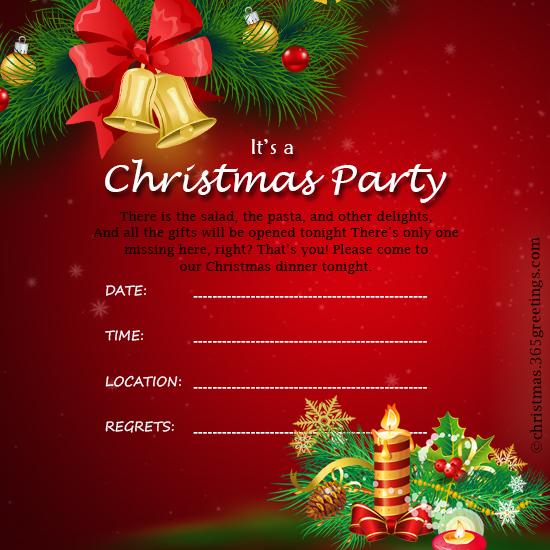 christmas day invitations