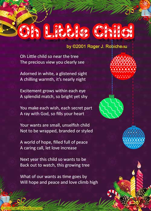 Christmas Poems For Kids Christmas Celebration All About Christmas