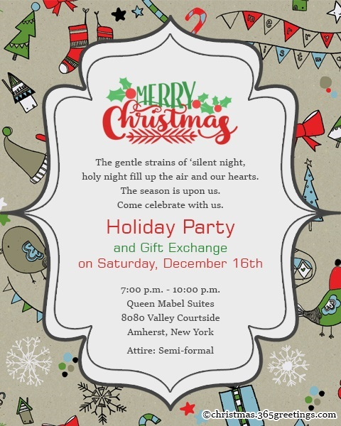 11 Company Christmas Party Invitation Wording Ideas