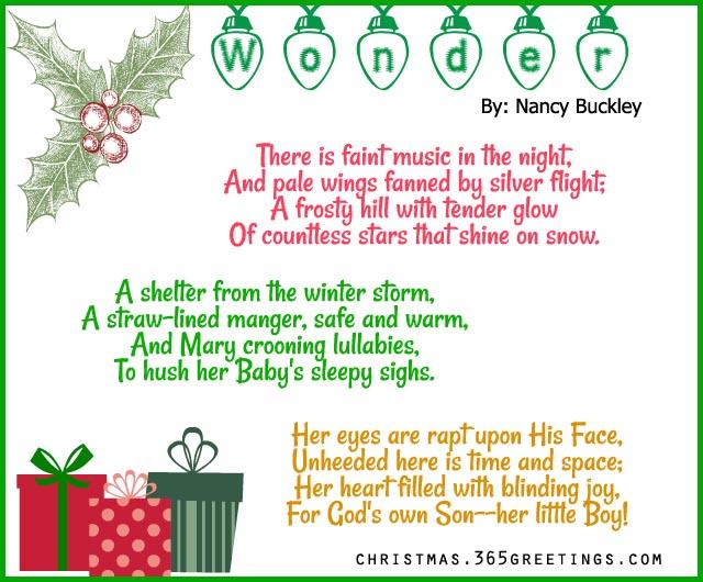 Christmas Ornament Poems