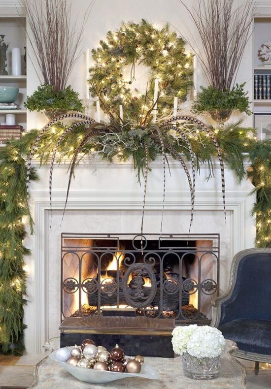 Home Improvements Refference Fireplace Mantel Christmas Decorations
