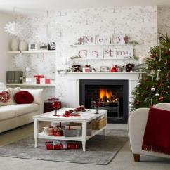 Christmas Decorating Ideas For A Small Living Room Rooms With Dark Grey Feature Walls Celebration All