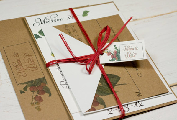 Ideas For A Christmas Wedding Invitation