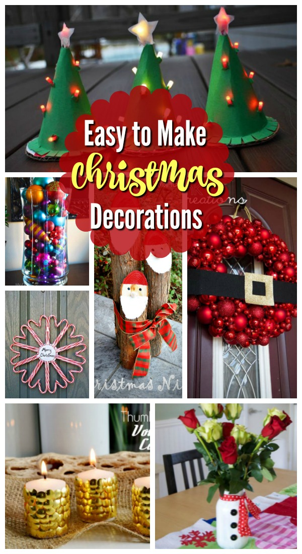 17 Easy To Make Christmas Decorations Christmas Celebration All About Christmas