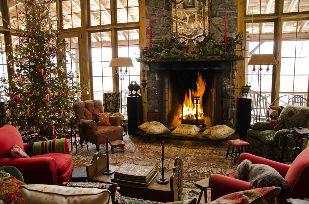 rustic cabin living room decorating ideas set leather christmas decorations obtr6cly celebration