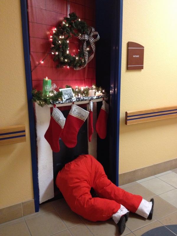 Pictures Of Christmas Door Decorations
