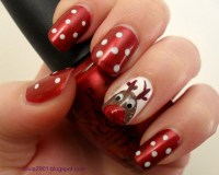 50 Amazing and Easy Christmas Nail Designs and Nail Arts ...