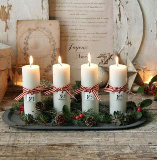 How To Decorate A Christmas Candle