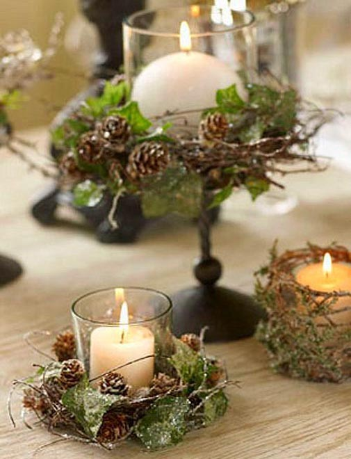 Christmas Decorations With Candles