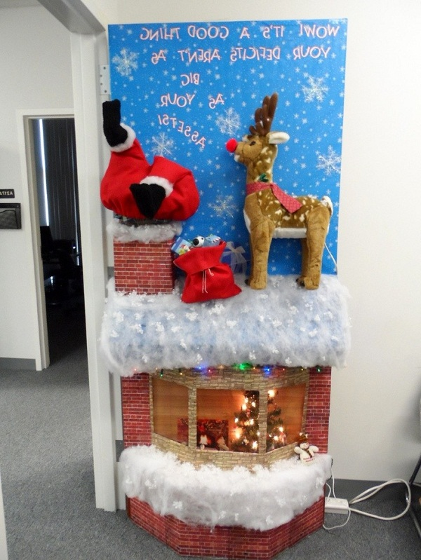 Beautiful Christmas Office Door Decorating Ideas Inside Designs