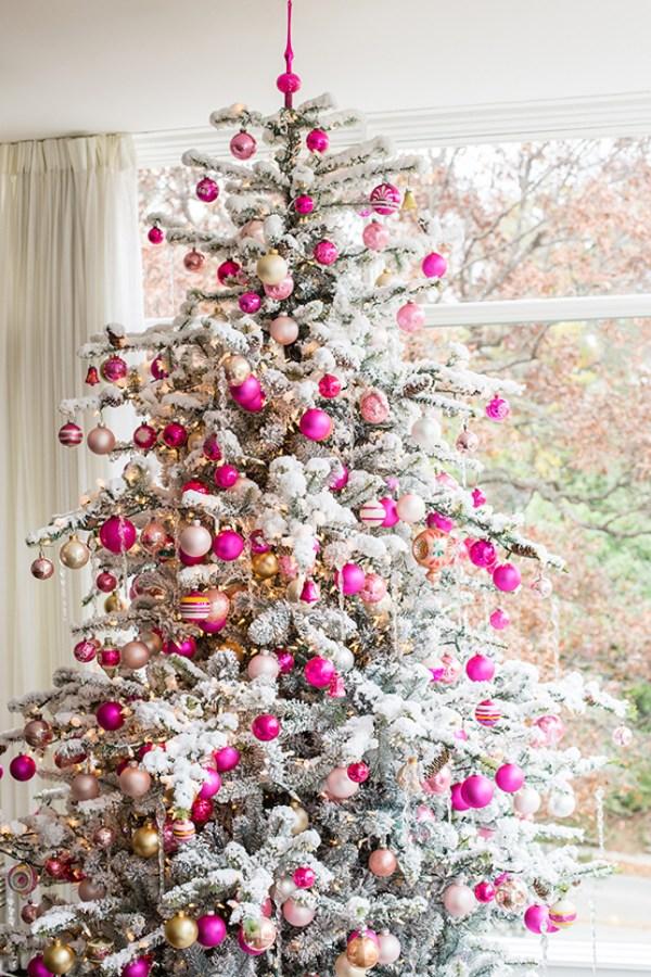 Top 40 Pink Christmas Trees Christmas Celebration All