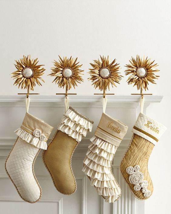 fded80cb348 gold christmas stocking top 40 and dreamy white and gold decoration ideas  celebration