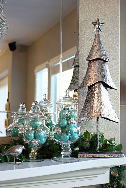 beachy kitchen table island lighting fixtures top blue and white / silver christmas decorations ...