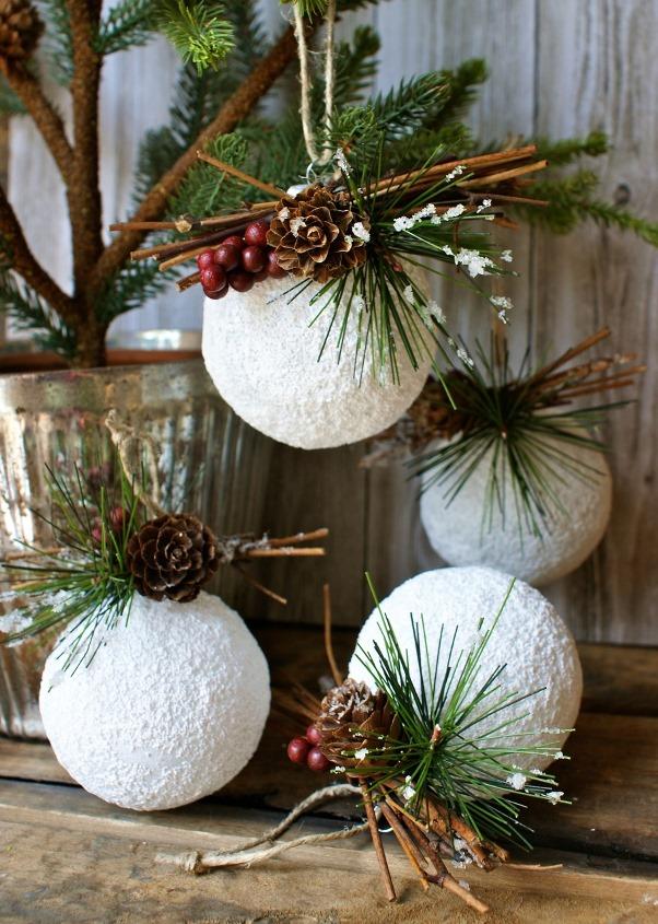 rustic white ornaments decoration source
