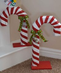 Candy Cane Door Decoration Ideas