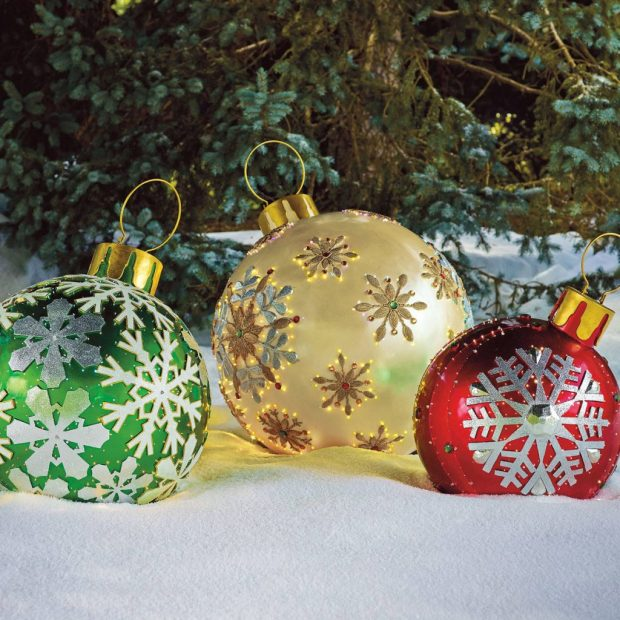large outdoor christmas ornament decorations - Large Outdoor Christmas Decorations