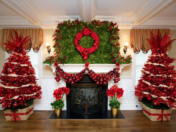 christmas decoration Red Christmas Tree Decorations Ideas - Christmas Celebration - All about Christmas