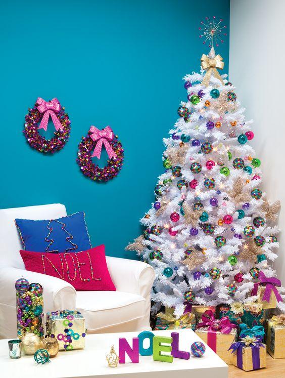 27 Rainbow Christmas Tree Decoration Ideas Christmas