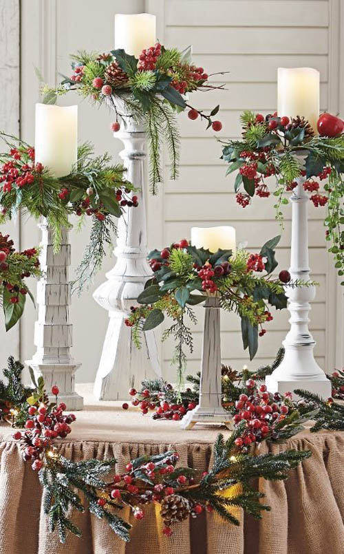 Holly Centerpieces Christmas