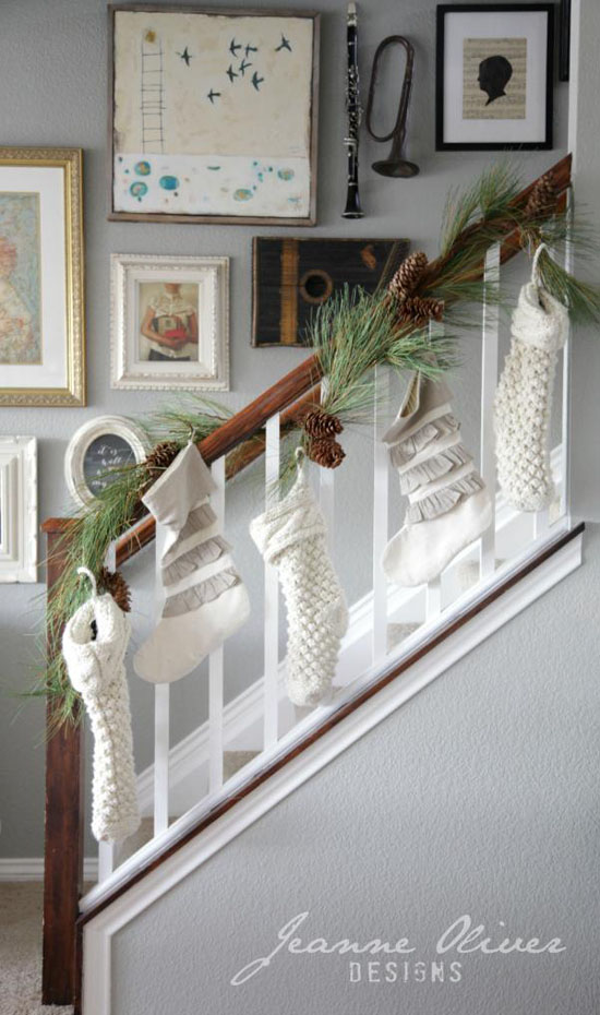 Holiday Banister Decorating Ideas  Satsuma Designs