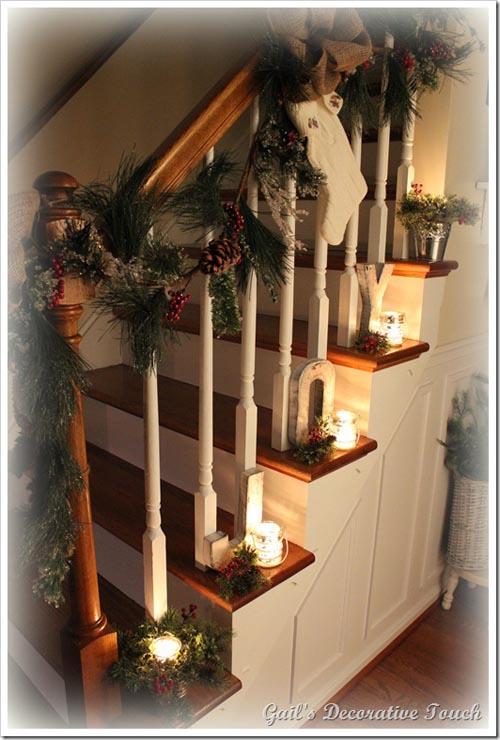40 Festive Christmas Banister Decorations Ideas  All