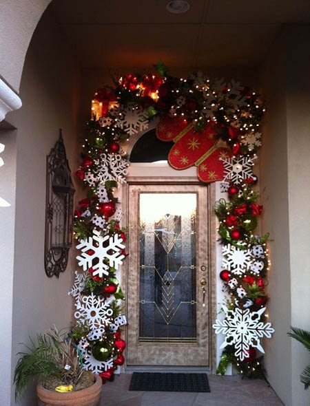 Christmas Front Door Decorating