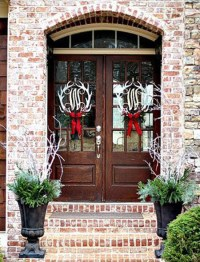 Wonderful Christmas Front Door Decorations Ideas