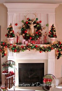 40+ Wonderful Christmas Mantel Decorations Ideas - All ...