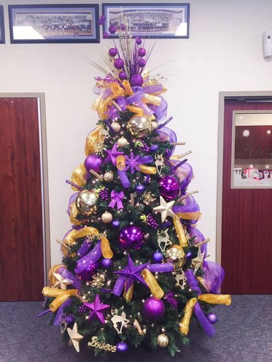 Purple Christmas Decor