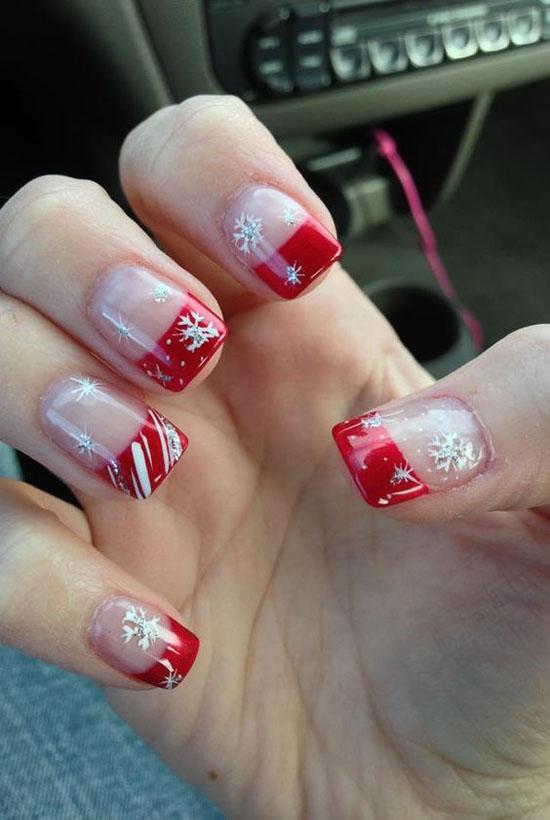 Simple Christmas Nail Designs 14