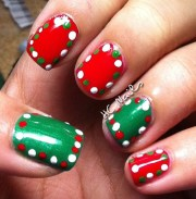 simple christmas nail art design