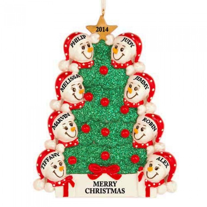 Personalized Christmas Ornaments 13 Large Family