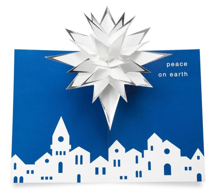 Holiday Pop Up Cards Village Star 3d Christmas Cards