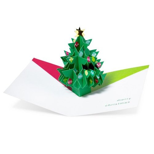 Pop Up Cards Tree With Ornaments 3d Christmas Cards