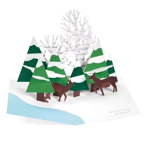 Forest Scene PoP Up Holiday Cards 3d Christmas Cards