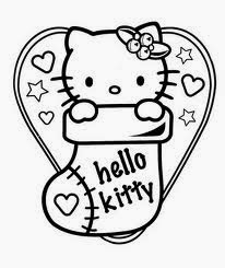6 Beauty Christmas Hello Kitty Coloring Pages