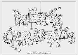 Christmas Colouring In Pages To Print