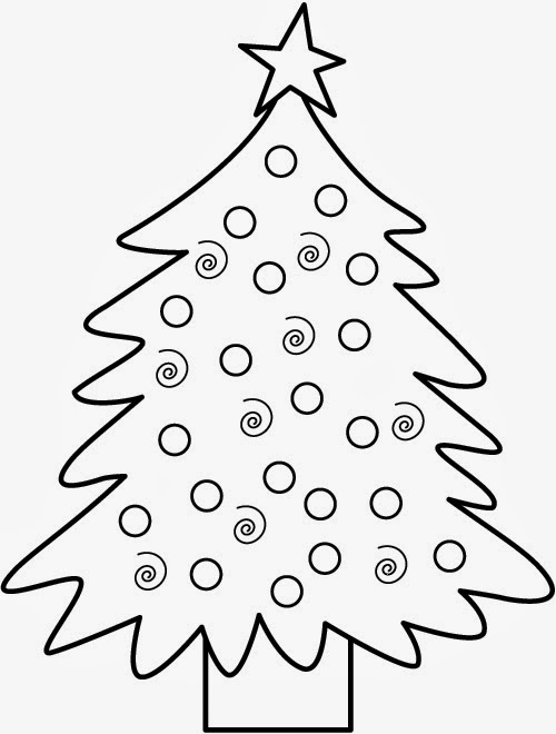 7 Easy Christmas Coloring Pages For Toddlers