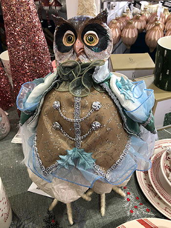 Owl dressed up for Christmas